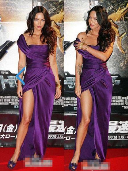 new fashion vestido de noiva 2018 kim kardashian hot&sexy one shoulder purple long party prom gown Mother of the Bride Dresses