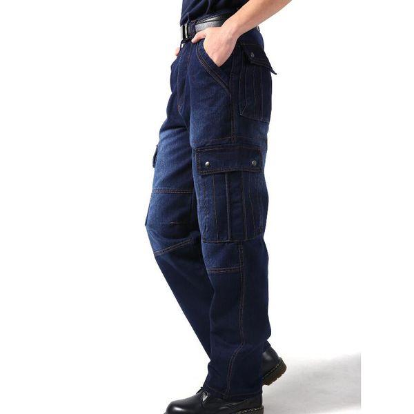 New Cargo Pants baggy jeans pants mens Hiphop loose skateboard man jeans big size 30-46