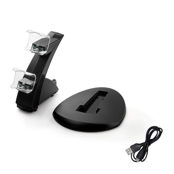 DUAL LED USB Charger Dock Base para estación de acoplamiento Stand para Sony Playstation 4 PS4 pro slim xbox one Game Controller para carga