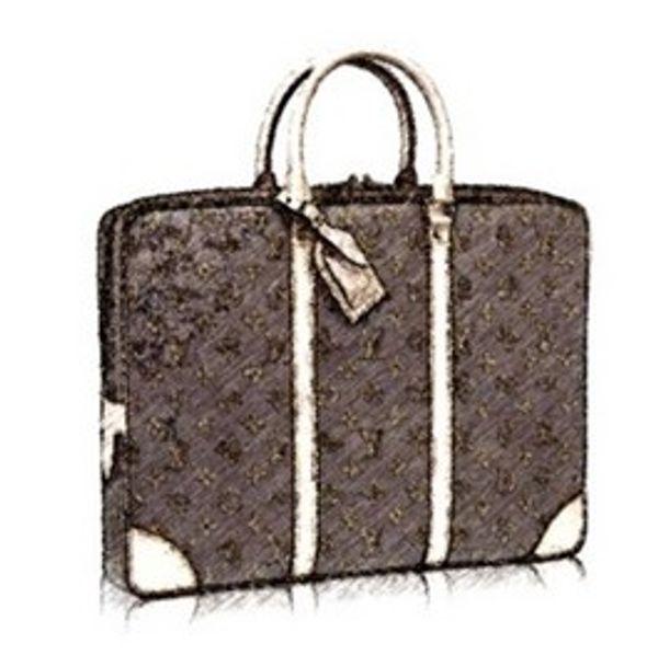 CLASSIC BROWN FLOWER DIMIER EXPLORER briefcase M40226 calf Leather men women laptop bags case OL Meeting Pack briefcases 41*31*7cm