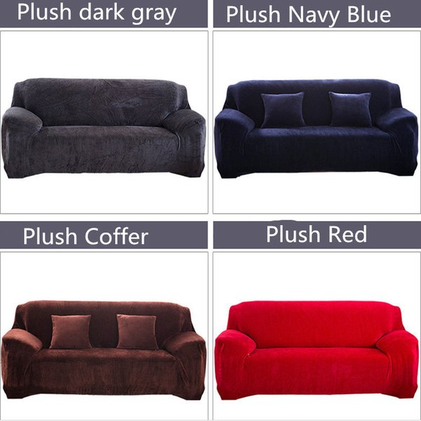 Sensational Three Seater Cover Is Suitable 195Cm 230Cm Width Easy Fit Thick Plush Velvet Couch Stretch Sofa Cover Slipcover Slip Cover Couches Slip Cover Couch Pabps2019 Chair Design Images Pabps2019Com