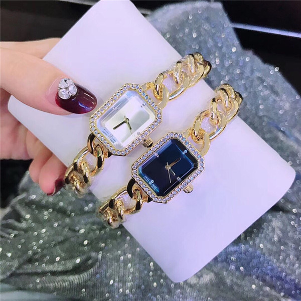 Orologio da donna famoso di lusso del progettista della vigilanza del braccialetto Orologio da polso Vestito da signora di moda Orologio da donna all'ingrosso al quarzo in acciaio inossidabile con drop shipping