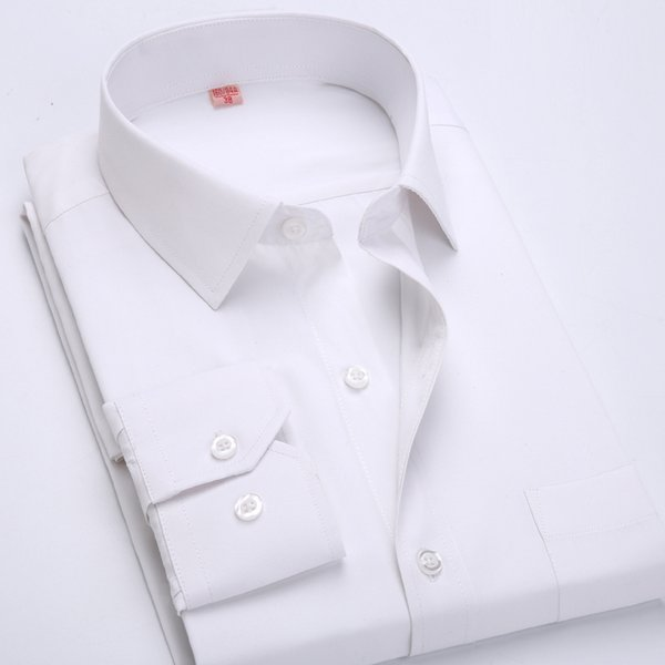 2017 New Arrival High Quality Men's Fashion Clothes Mens Solid Color Men's Long Sleeve Dress Shirts Formal Shirts For Men