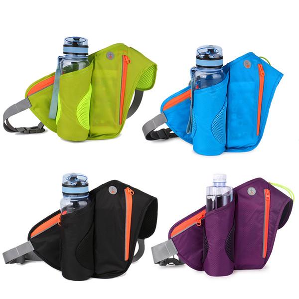 In Stock Marsupio Marsupio con portabottiglie impermeabile Bum Bag impermeabile Ciclismo Marsupio per viaggio Campeggio arrampicata Escursionismo DHL