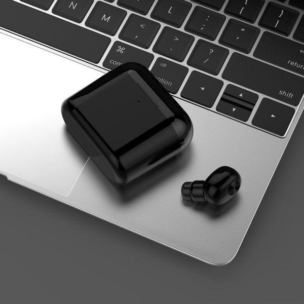 Drahtlose Bluetooth Kopfhörer Ohrhörer Mini BL1 Stereo Kleine Single Kopfhörer mit 700 mAh Ladebox Unsichtbare Hörer Headset für Telefon