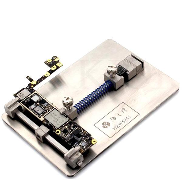 Teléfono PCB Holder Placa de circuito Abrazadera Fixture de plataforma para placa base Estación de retrabajo Posicionamiento Herramienta de reparación Desolder