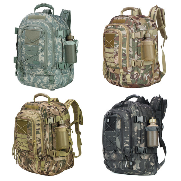 Military Camouflage 3 Day Expandable Tactical Backpack Large Backpack Water Resistant for Outdoor Activities, Dialy Life 39-64L