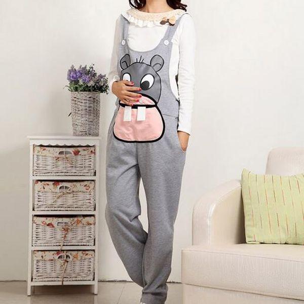 Jumpsuit Maternity Pants Long Clothes For Pregnant Women Overalls Roupa Gestante Trousers Autumn Winter DW901