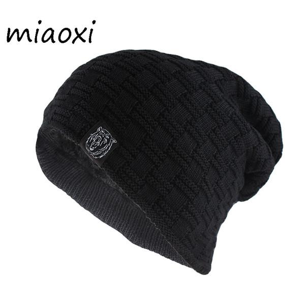 Miaoxi Nouveau Style Hommes De Mode Chapeau Pour Les Femmes En Laine Tricoté Bonnets Skullies Adulte Unisexe Casual Animal Motif Hiver Chaud Chapeaux