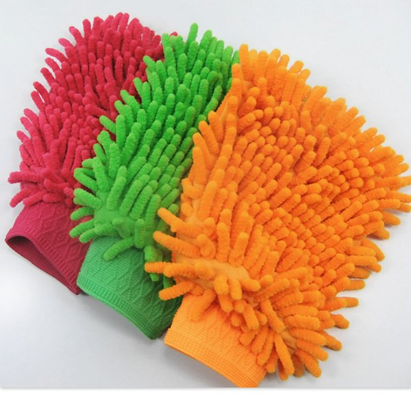 Hot Car Hand Soft Cleaning Towel Microfiber Chenille Washing Gloves Coral Fleece Anthozoan Car Sponge Wash Cloth Car Care Cleaning