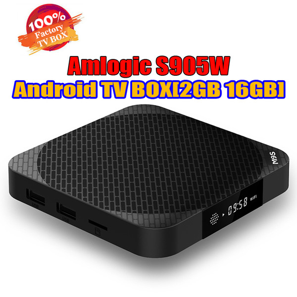 Android TV Boxes 2 Go 16Go M9S X2 Amlogic S905W Android7.1 TV Box meilleure que la TX3 X96 H96 MINI TV Box