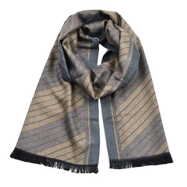 2018 Wholesale Brand Winter Men Classic Shawl Fringe Stripe Tassel Long Soft Warm Scarf Cotton Men Scarves