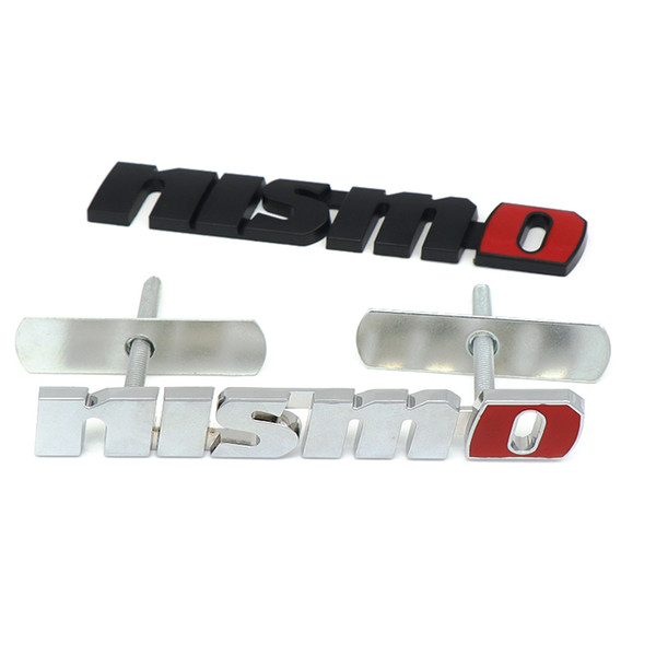 best selling Chrome NISMO Auto Car Stickers Front Grille Badge Emblem Car Styling For Nissan Tiida Teana Skyline Juke X-trail Almera Qashqai