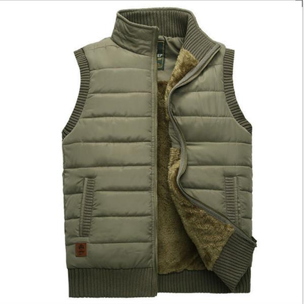 22fb9b500df619 Winter-Jacken-Mannweste Wollzwischenlage Mantel-wärmen ärmellose Jacken  beiläufige Mens-Weste-