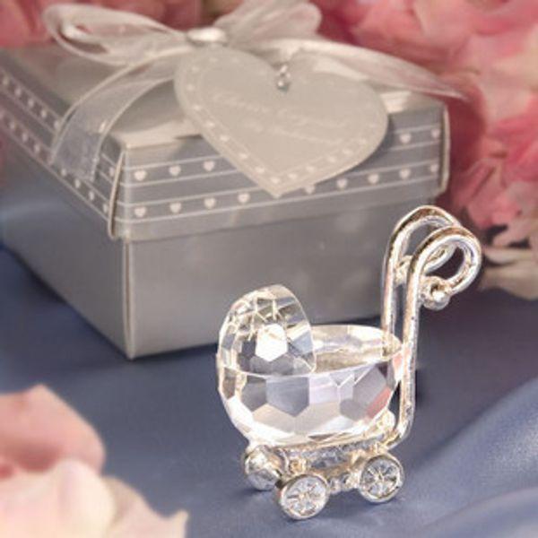 Baby-Dusche-Dekorationen Crystal Carriage Favor Geschenke Kinder Geburtstag Party Favors Taufe Baby Shower Return Geschenke