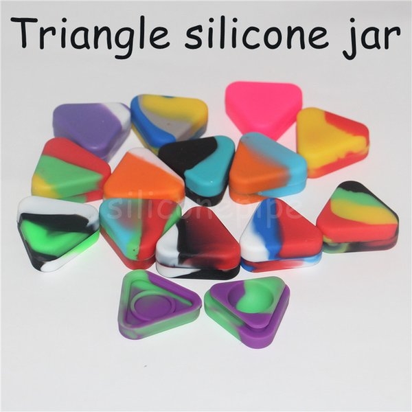 Triangle Silicone Wax Container Box 1.5ml Silicone Jars Dry Herb Wax Box Container Dab Silicone Dab Rigs smoking hand pipes