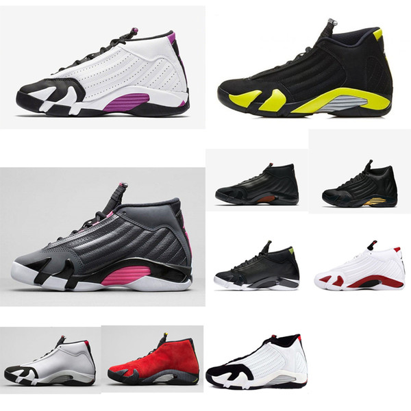 Cheap Women retro 14s basketball shoes for sale j14 White Purple Bred Black Toe aj14 Boys Girls Youth Kids casual sneakers Jumpman with box