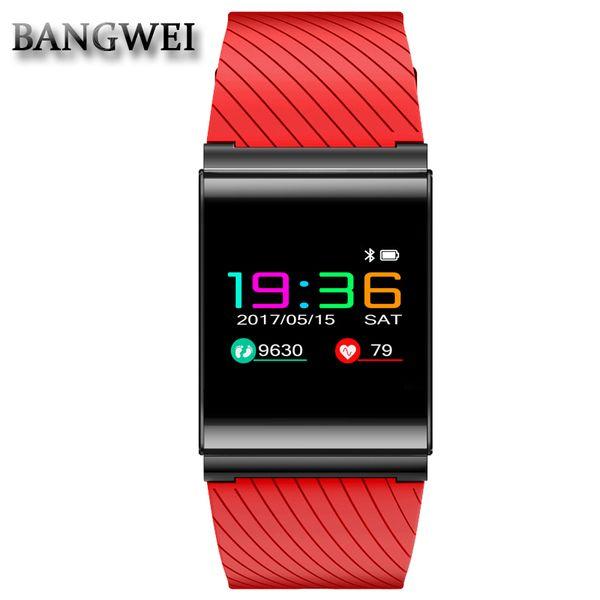 Soporte de recordatorio de información BANGWEI Facebook Twitter red de fitness social deporte reloj inteligente presión arterial monitor de frecuencia cardíaca