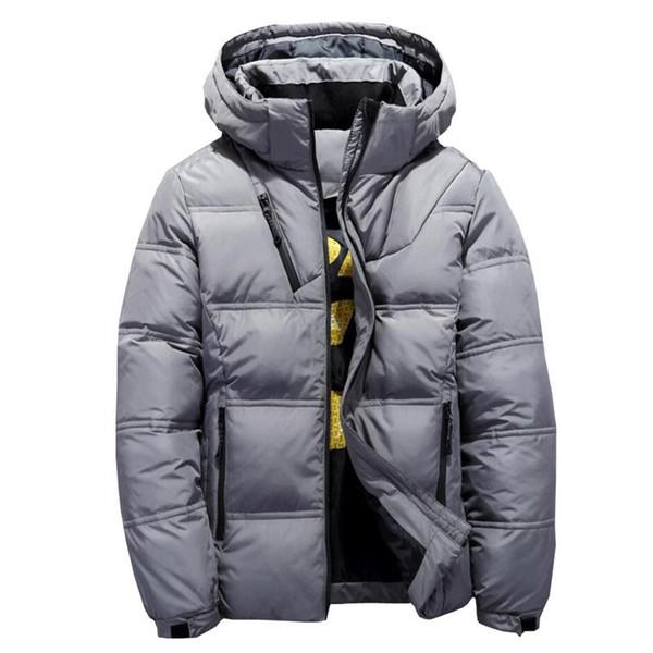 Großhandel 2018 Neue Hohe Qualität 90% Weiße Ente Dicke Daunenjacke Männer Mantel Schnee Parkas Männliche Warme Marke Kleidung Winter Mit Kapuze