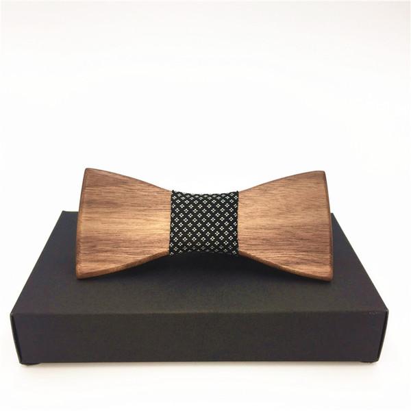 11.11 Men's butterfly Wedding Bow Tie Wooden Tuxedo Suit Business Necktie Fashion Novelty Gifts kraagje nep dames