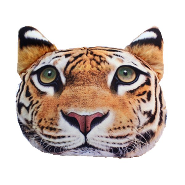 Car Travelling 3D Cute Animal TIGER Gift Pillow Car Seat Driving Pillow Headrest Pillow With Activated Carbon Free Shipping