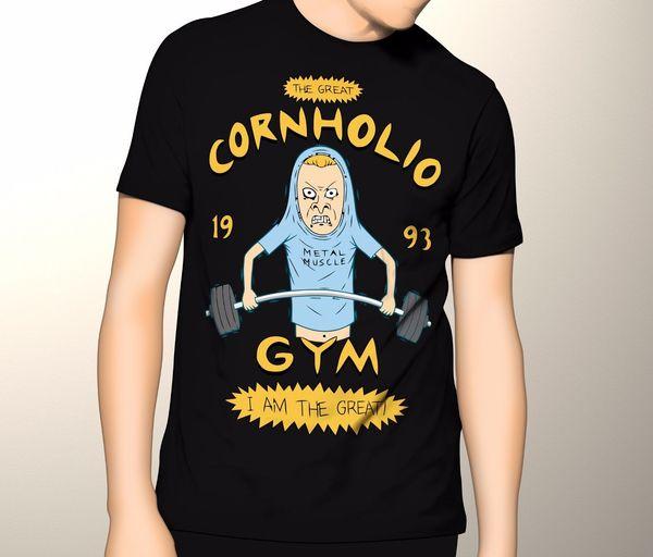 Beavis ve Butthead, Cornholio Salonu, Grafik T-Shirt% 100% pamuk rahat baskı kısa kollu erkek T-shirt o-boyun Üst Tee Erkek Erkek Hop komik