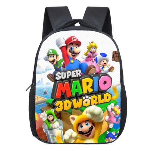 13 Inch Cartoon Super Mario Bros Kids Backpack Kindergarten School Bag Children Printing Backpack Girls Boys Mochila Y18100805