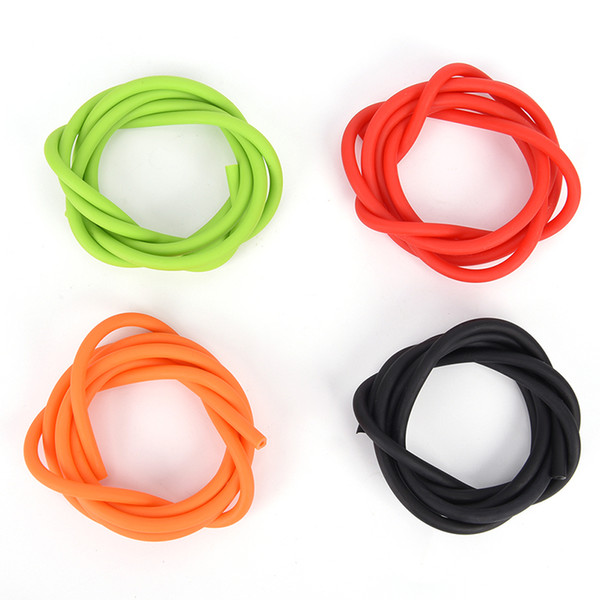 New 1m Elastic Slingshot Rubber Tube Outdoor Natural Latex Stretch Replacement Band Catapults Sling Rubber 1.7x4.5mm 4 Color