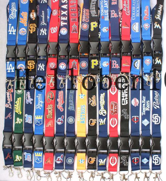 Hot! Algumas equipes de beisebol estão aqui Lanyard mobile phone neck strap chaveiro Escolha o que você gosta.
