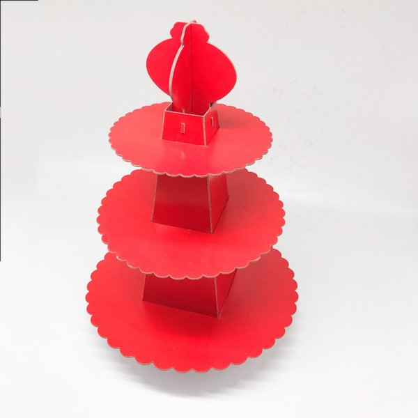 1set red theme cupcake stand solid color birthday party decorations red theme party supplies