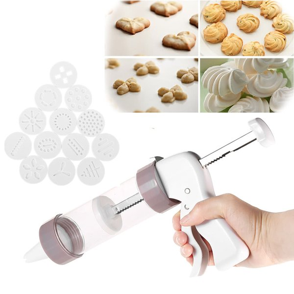 Cookie Cutters Moulds Presser Cake Biscuits Mold Gun Biscuit Shape Mold DIY Fondant Pastry Baking Baking Tools
