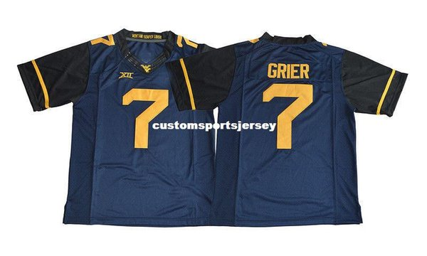 d29e5eb91c8 Cheap custom Will Grier Jersey #7 West Virginia Mountaineers Football Jersey  Stitched Customize any number