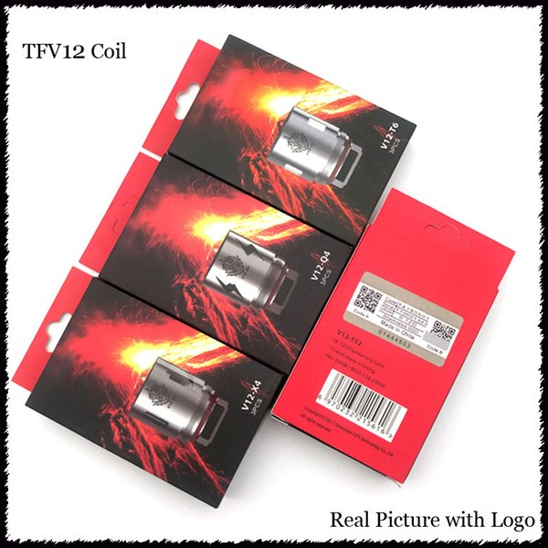 TFV12 Coil Head Replacement V12 T12 T8 T6 X4 Q4 Atomizer Heads For TFV12 Tank Beast Cloud Monster Vape Coils-1