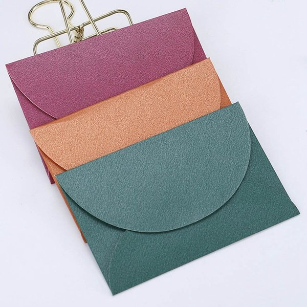 10pcs/lot Handmade Mini Envelopes Vintage Colored Pearl Paper Envelope Wedding Invitation Envelope Christmas Gift