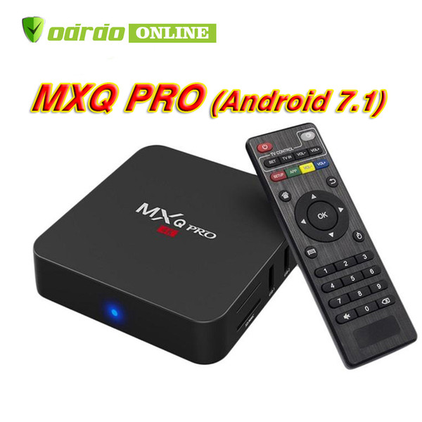 MXQ Pro 4K Android 7.1 TV Box Rockchip RK3229 Quad Core Box TV 1G/8G Android 7.1 WiFi H.265 3D Smart Tv media player