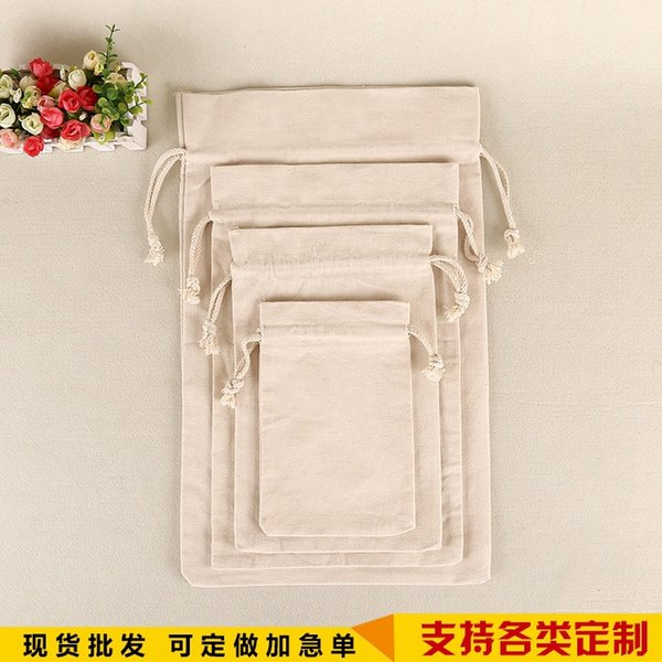 Assorted Small Sizes Blank Cotton Canvas Muslin Drawstring Storage Bag Gift Bag Stuff Sack Sacks for Small Things and Gifts