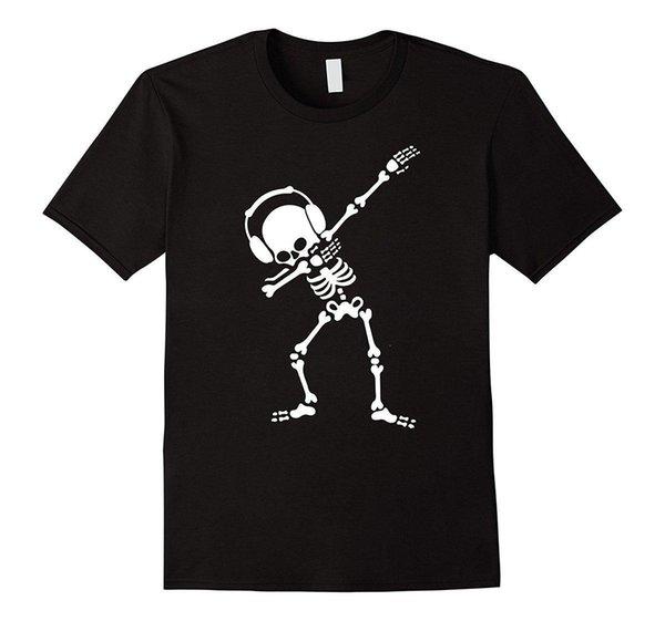 Dabbing Esqueleto Dabbin Dab Hip Hop Engraçado Halloween T-Shirts de Manga Curta de Verão Novidade Impressão de Algodão de Alta Qualidade T Shirt