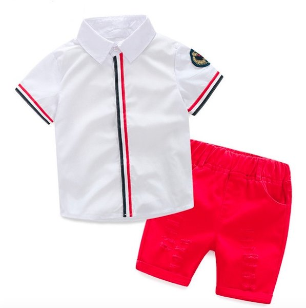 2018 New Children's New Kids Clothing Set Baby Boy Cotton T Shirt Short Pants Children Set For Summer Boy Cartoon Clothes Fits 2 Colors 2-6T