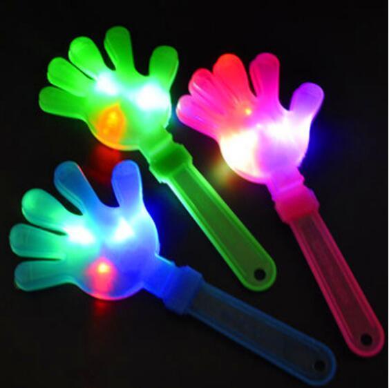 28cm Flash LED Mani luminescenti Applauso luminoso Forniture per feste Apparecchio per applauso luminoso Apparecchio per feste luminoso CCA10500 500 pezzi