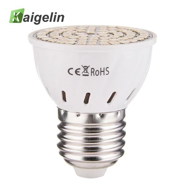 Kaigelin E27 5W Wechselstrom 220V LED wachsen helles Buld 72 LED volles Spektrum-Spektrum wachsen Lampe für Blumen-grünes Haus Hydroponikzelt