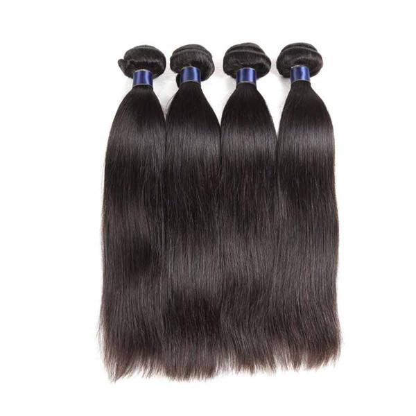 8a Brazilian Virgin Human Hair Bundles Straight Cheap Remy Human Hair Extensions Unprocessed Brazilian Virgin Hair Bundles 3 Bundles Deals