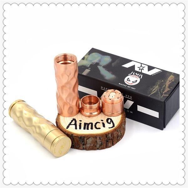 Populaire AV Dimple Gyre Mod Laiton Cuivre AV Mech Tube Mod 510 Fil Vape Mod E-cigarette DHL Gratuit