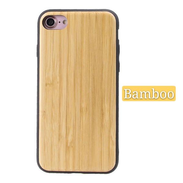 Doğal Ahşap Ahşap Bambu Telefon Kılıfı Apple iphone 6 6 s oyulmuş olabilir oem anti-sonbahar iphone 6 için Kapak vurmak