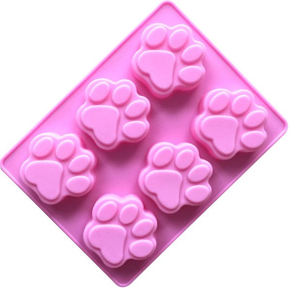 DIY bear paw print Ice Cube cake jelly mold 2018 new Tasteless nontoxic Silica gel 6 Cat paw mould B