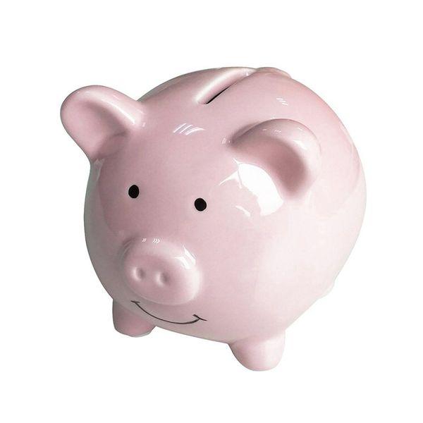 Lindo recuerdo de cerámica Piggy Bank Ahorro Moneda en efectivo Caja de dinero Niños Juguete Niños Regalos Colección Hogar Decorativo Caja de dinero