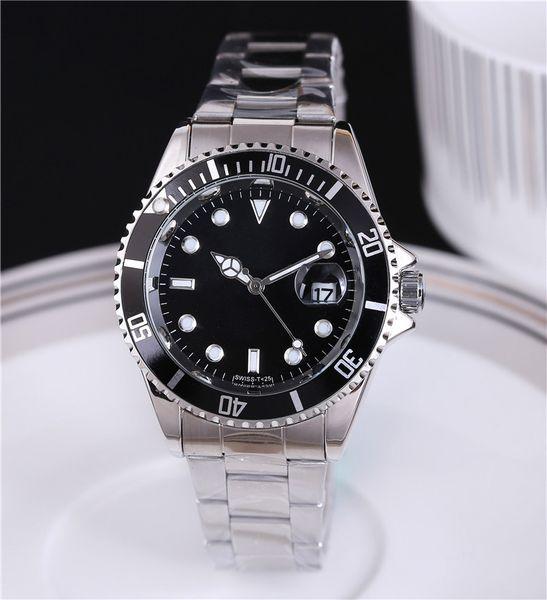 Luxo mens relógios de grife Csaual marca de moda preto relógios de pulso dos homens relógio automático data do dia Pulseira relógio Mestre GMT relojes hombres