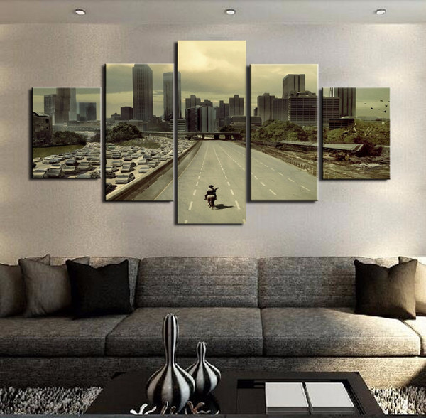 Modular Pictures HD Printed Canvas Frame Painting Home Wall Art Photo Decor 5 Panels Movie Landscape Poster PENGDA