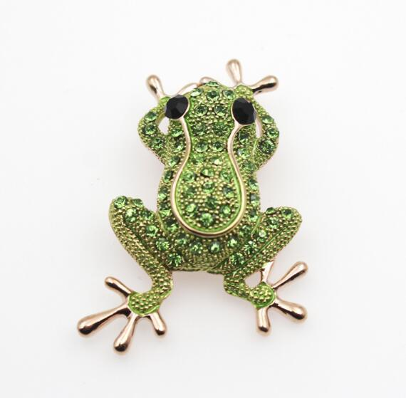 New Explosion models fashion creative cartoon brooch Wild frog brooch ideas dual toy