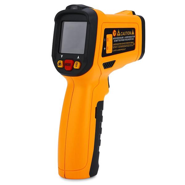 KMETER Backlight Display Digital Laser Infrared Thermometer Measurement Gun Temperature Instrument With Storage Bag for Industry Home