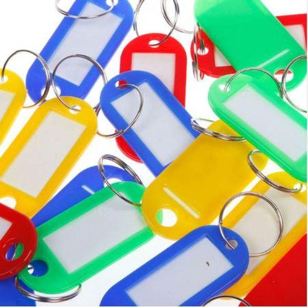 30 pcs porte-clés en plastique porte-clés assortis étiquettes d'identité